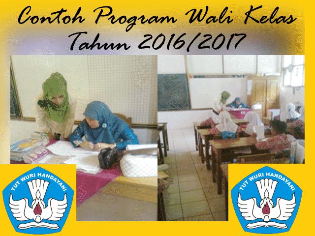 Contoh Program Kerja Wali Kelas Tahun Ajaran 2016/2017 Versi Words.Doc