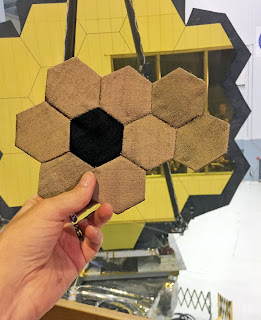JWSTArt Event, Sue Reno, silk hexagons, image 3