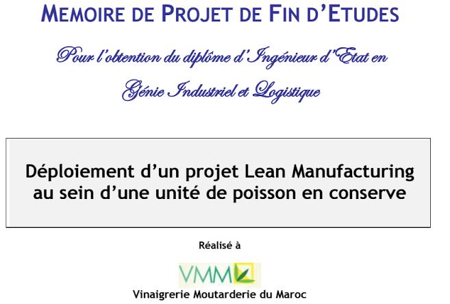 Lean Manufacturing  dans unité de poisson en conserve