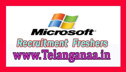 Microsoft Recruitment 2016-2017 For Freshers