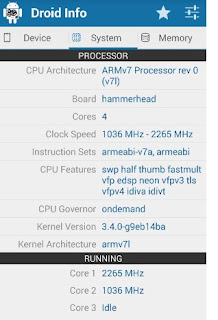 Aplikasi test hardware android Droid Hardware Info