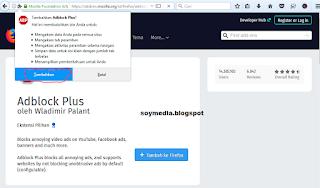 memblokir iklan di mozila menggunakan adblock plus