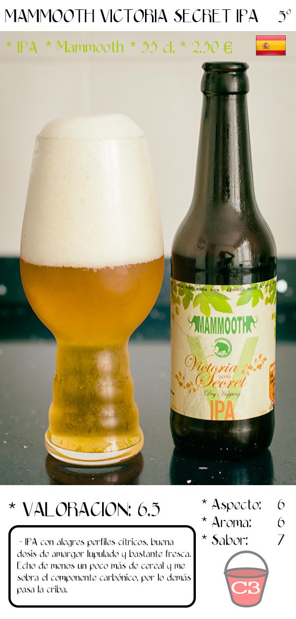 Cerveza al cubo mammooth victoria secret ipa for Jardin de la cerveza 2015 14 de agosto