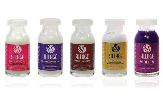 Ampolas para tratamento capilar Sillage