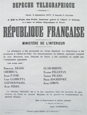 "4 septembre 1870 : l'appel des ""11"""