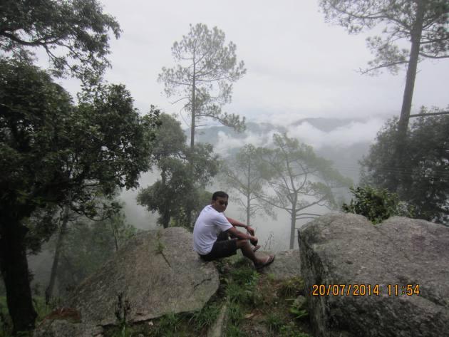 view from thandi sadak