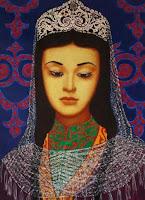 вторая жена Ивана Грозного, (художник Мухадин Кишев) Первая и последующие жены царя Ивана Грозного