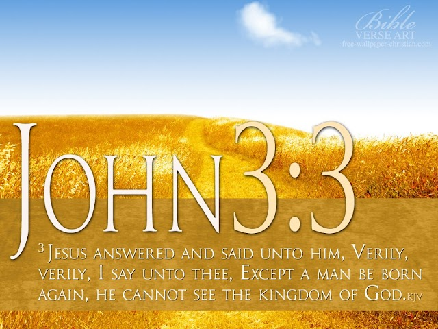John 3 : 3 Bible Verse Wallpaper