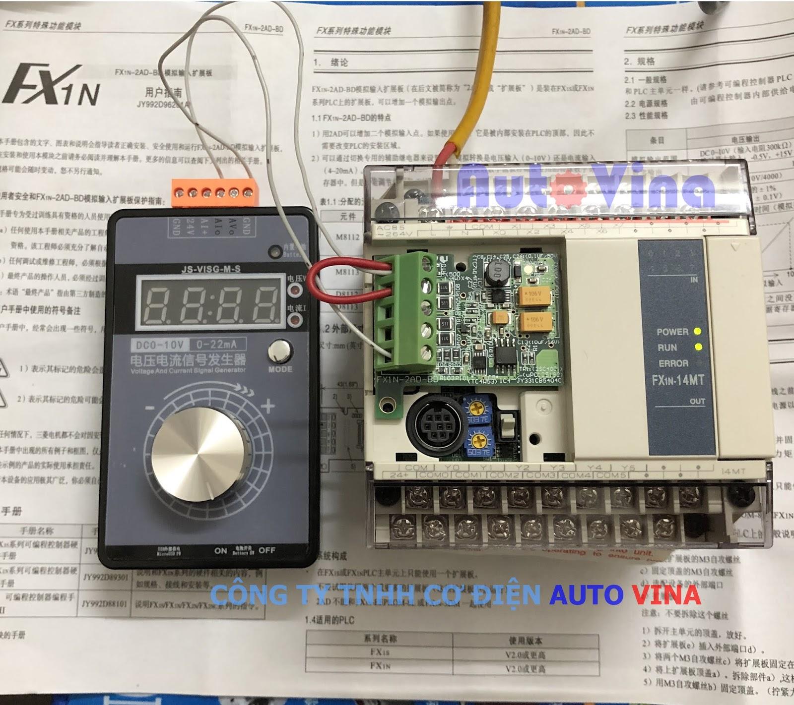 Hướng dẫn sử dụng Analog Input Expansion Board FX1N-2AD-BD