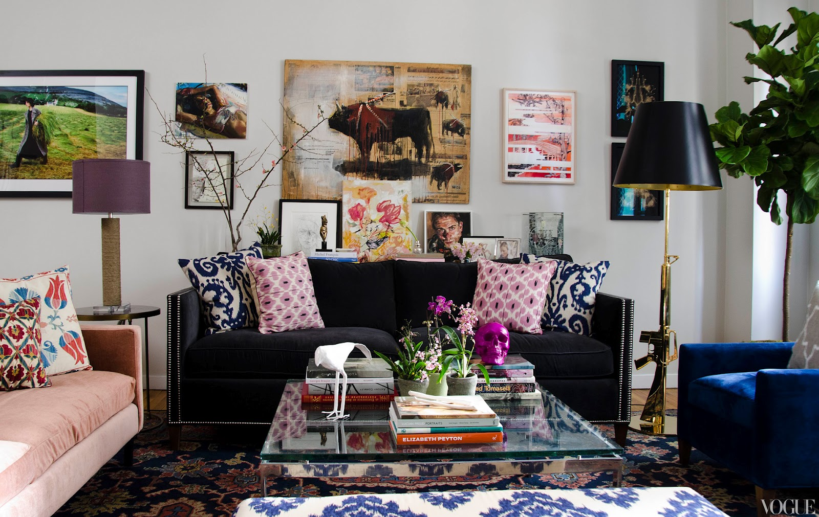 vogue chrome sofa table abbyson living vienna black leather bed and chaise sectional decor me happy by elle uy: can men pink coexist? totally.