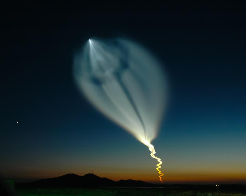 The launch of a Soyuz spacecraft rocket photo. Astronautics, cosmonautics