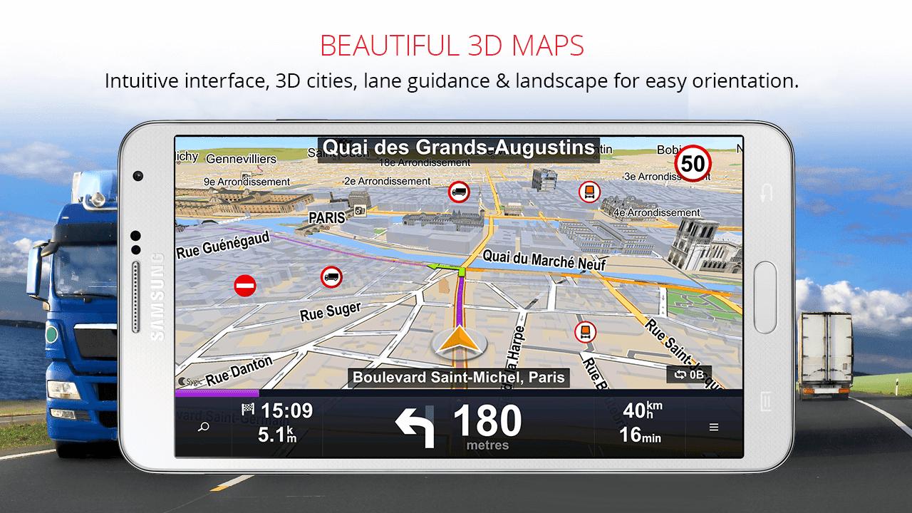 Sygic Truck GPS Navigation v13 7 1 build 117 [Unlocked] APK