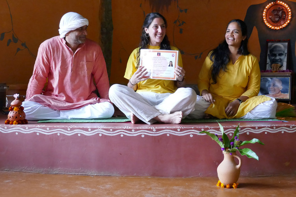 Student Getting TTC Yoga Certification at Inteyoga Mysore India