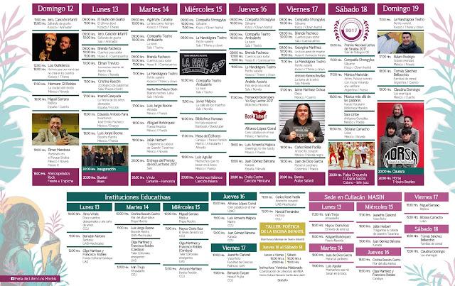 Programa General Feria del Libro Los Mochis 2017