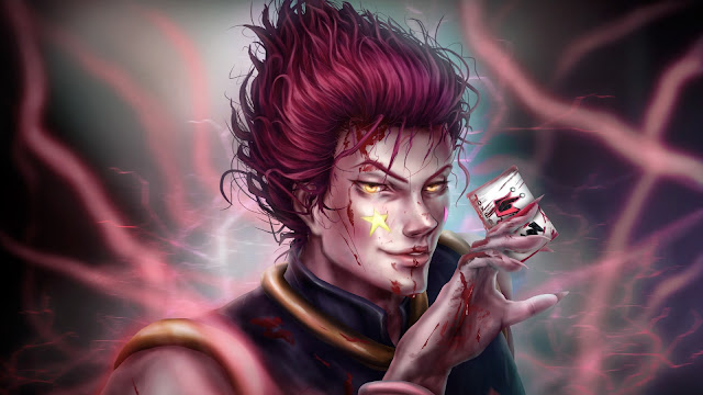 wallpaper hunter x hunter hisoka blood fight