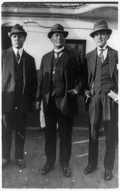 Victoriano Huerta with José C. Delgado and Abraham F. Ratner