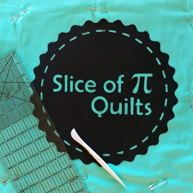 Slice of Pi Quilts quilted logo tote bag