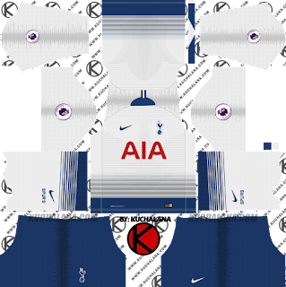 Tottenham Hotspur 2018/19 Kit - Dream League Soccer Kits