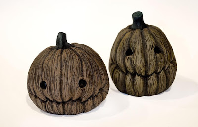 Halloween Pumpkin Resin Figures by Vanessa Ramirez