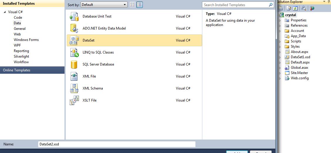 Create crystal report in C#, ASP Net, Webapplication | C#