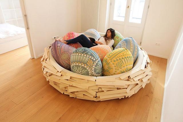 Tempat tidur seperti sarang burung