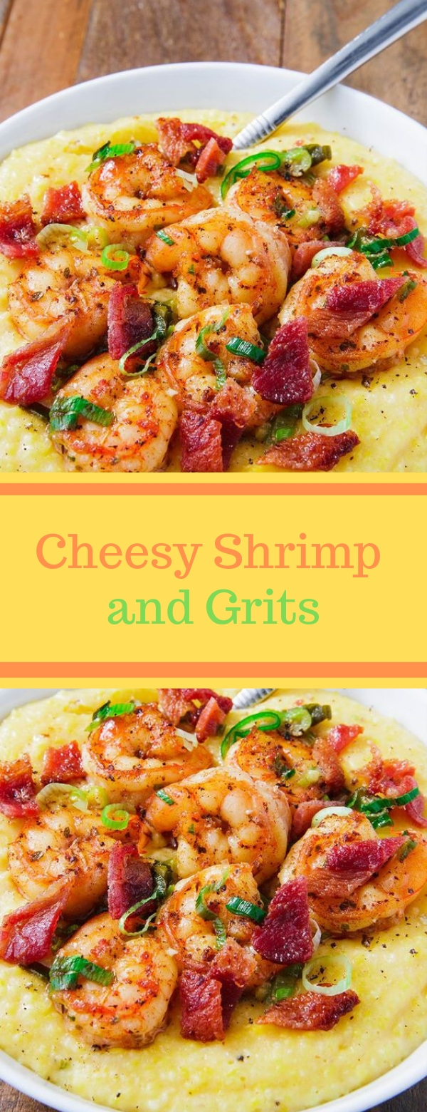 Cheesy Shrimp and Grits #SEAFOOD #GLUTENFREE #SOUP