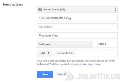 Tahap Kedua : Membuat Konfigurasi Google Wallet