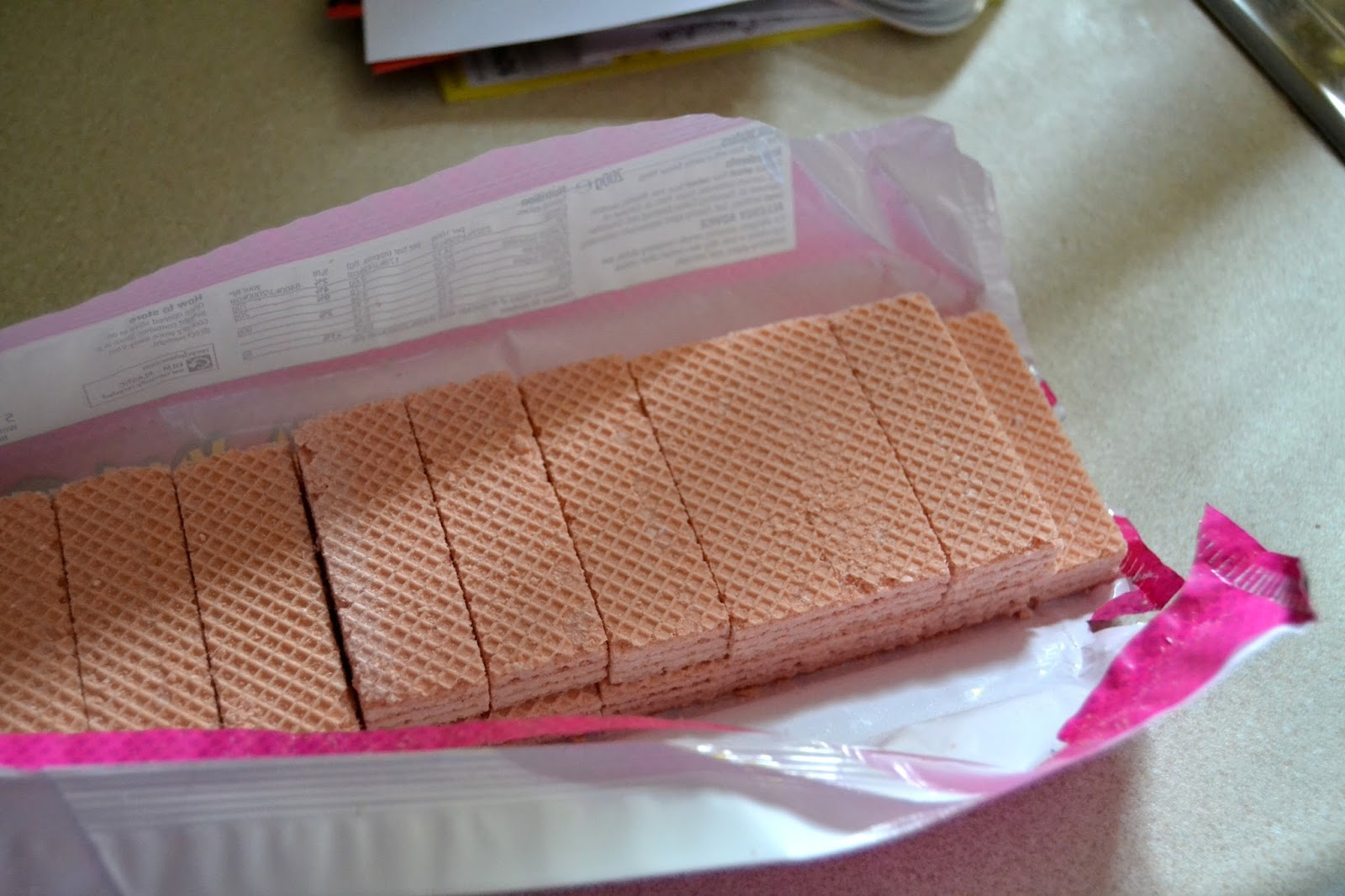 Pink No Bake Fridge Cake