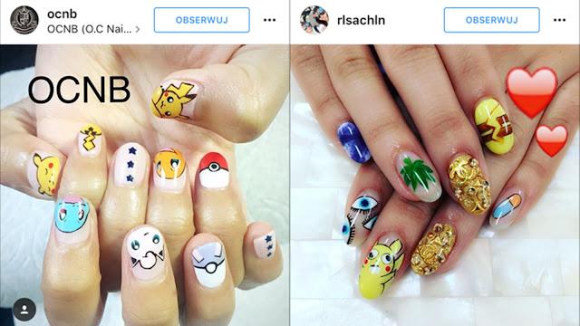 paznokcie z pokemonami
