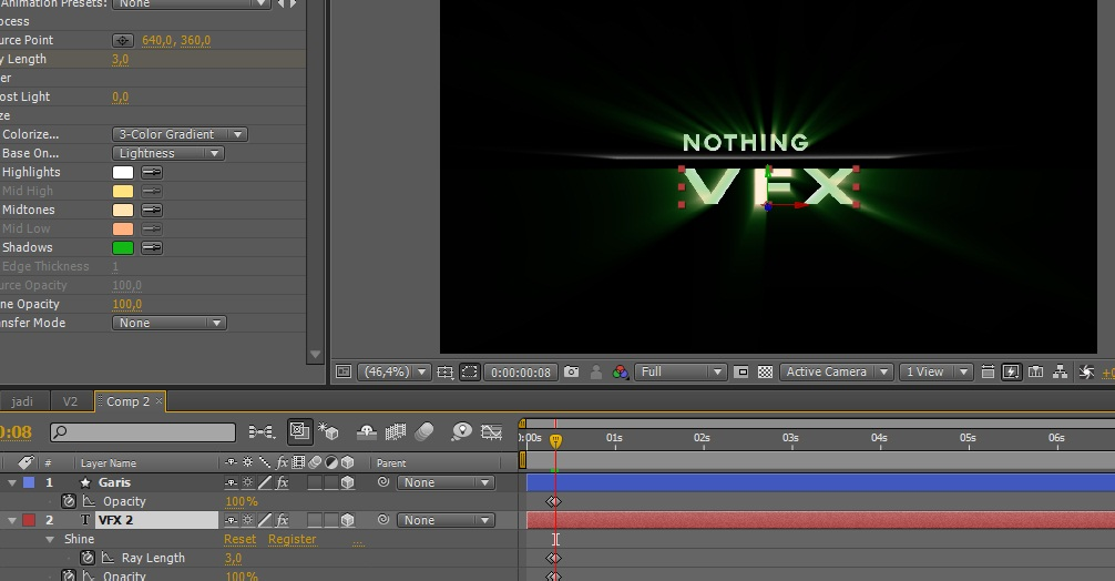 Membuat Opening Rainy Text Di After Effect