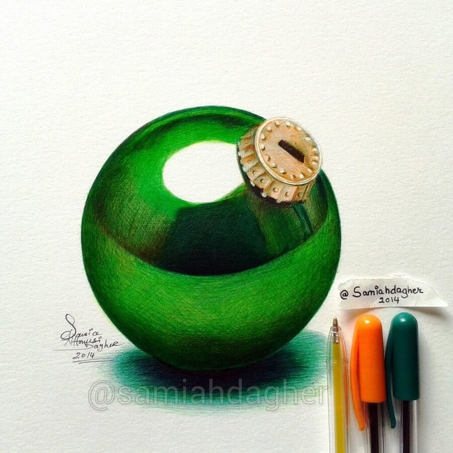 01-Green-Christmas-ornament-Samia-Dagher-www-designstack-co