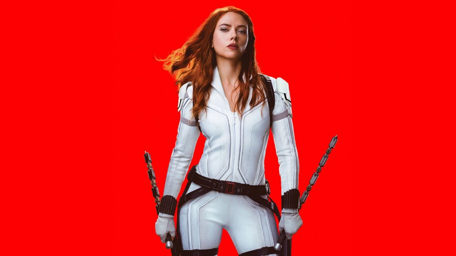 Black Widow, 2020, Scarlett Johansson, White Suit, 4K, #7 ...