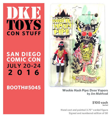 San Diego Comic-Con 2016 Exclusive Wookie Hash Pipe Dose Vapors Resin Figure by Jim Mahfood x DKE Toys