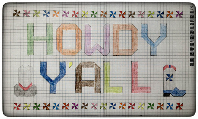 Howdy Y'all Quilt, Thistle Thicket Studio, cowboy boot block, Moda Bake Shop, quilts, quilting