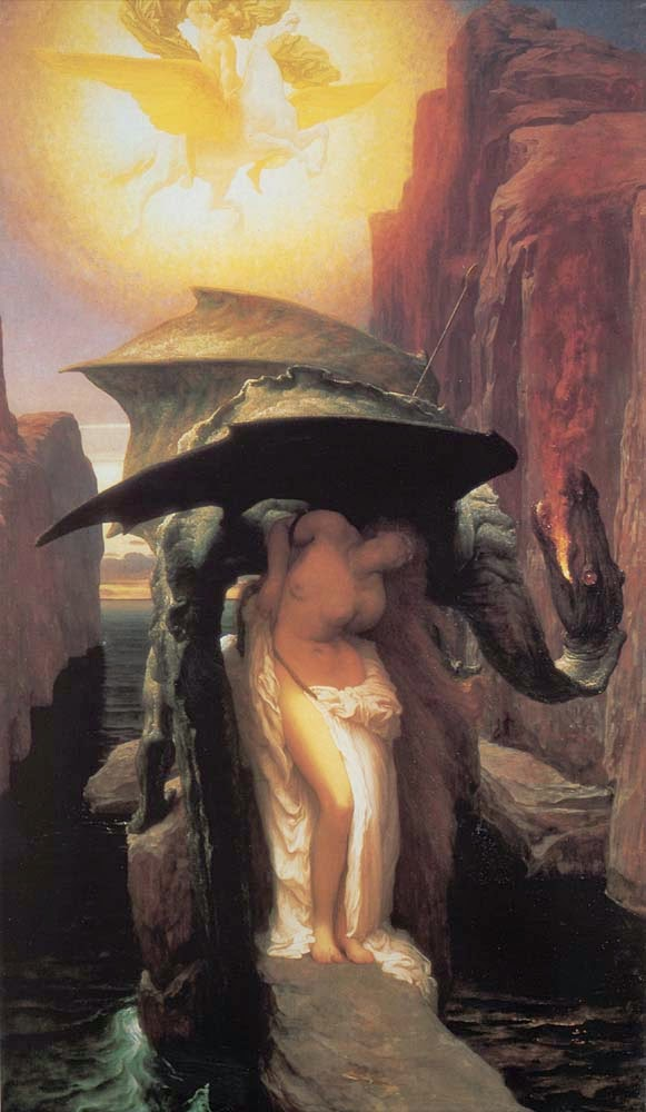 Perseu e Andrômeda - Lord Frederick, o mais famoso artista britânico do século XlX