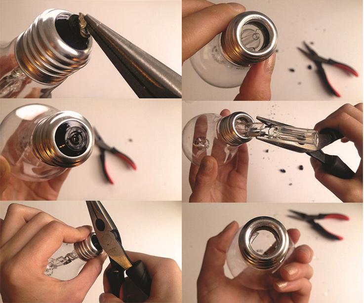 Como Abrir a Lâmpada Incandescente Velha