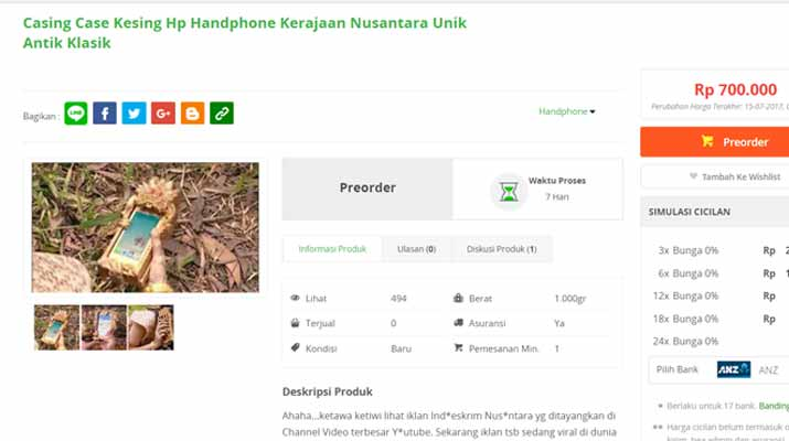 Jebul Casing HP Iklan Indoeskrim Sudah Dijual Online ...