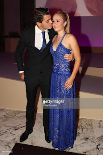 Taylor Fritz And His Wife Raquel Pedraza During The ITF World Championship Dinner
