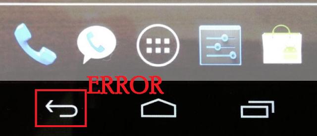 Cara Mengatasi Tombol Back Tidak Berfungsi Pada Ponsel Android