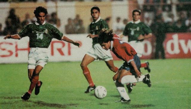 Chile y México en partido amistoso, 7 de febrero de 1996