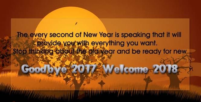 Goodbye 2017 Welcome 2018 Wishes Image