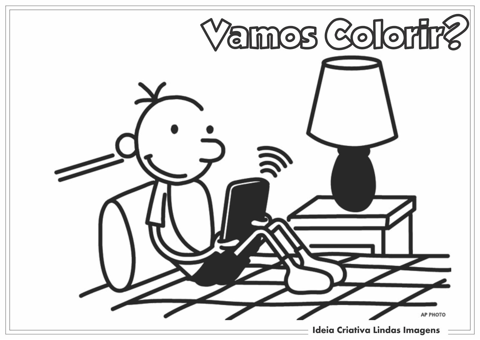 Diario De Um Banana Desenho Para Colorir