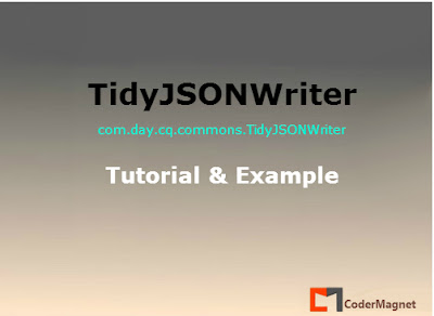 tidyjsonwriter example codermagnet