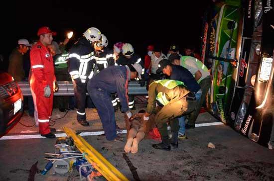 Nuevamente accidente de Bus Pilcomayo: mueren 13 personas y hay 32 heridos
