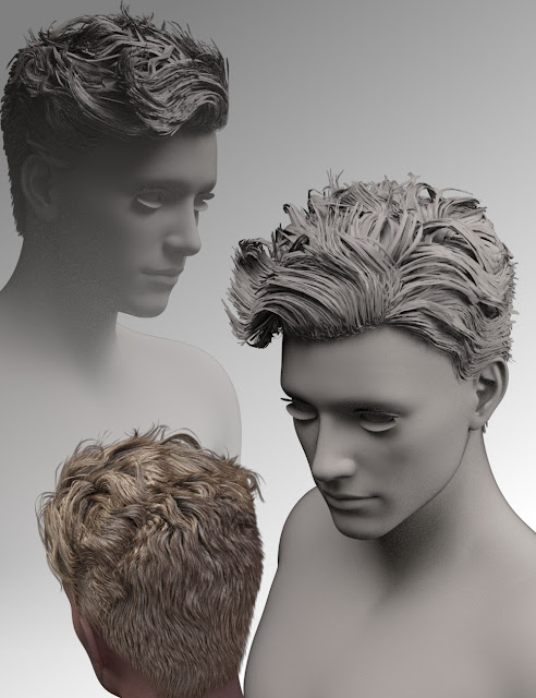 Cage Casual Waves Hair for Genesis 3 Male