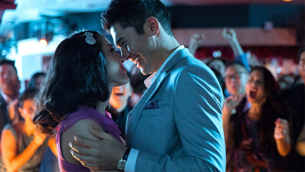 image of Constance Wu and Henry Golding in 'Crazy Rich Asians'