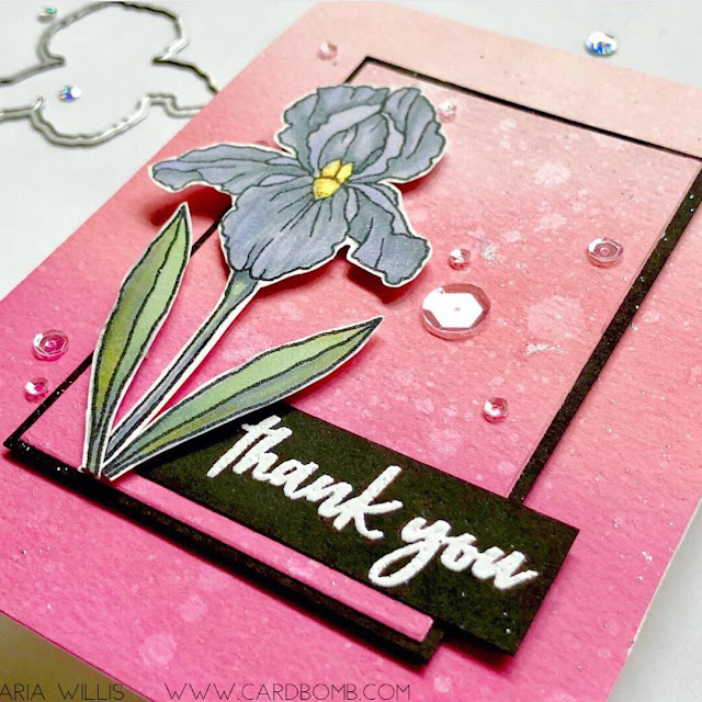 #mariawillis, #cardbomb, #heroarts, #newrelease, #newcatalog, #2019heroartscatalog, #colorlayeringiris, #thankyou, #cards, #cardmaking, #handmadecards, #craft, #papercraft, #stamp, #ink, #paper, #handmade, #diy, #create, #color, #copics, #copicmarkers,, #distressoxides, #flowers, #mixedmedia,
