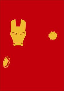 cartel minimalista  de super héroe Iron Man