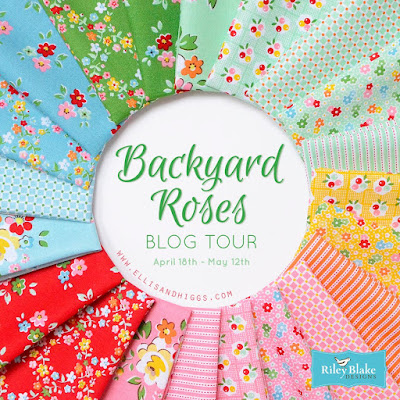 Backyard Roses fabric blog tour