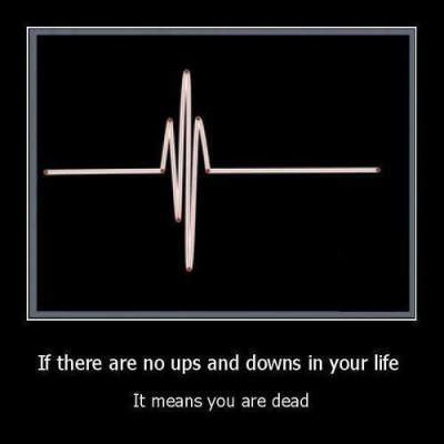 quote if there are no ups and downs in your life,it means you are dead